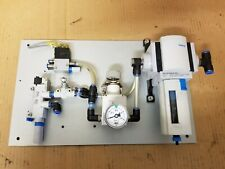 Festo Pneumatic Vacuum Generator Regulator Filter Setup, Aluminum Plate Mounted