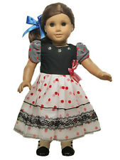 Free shipping! Polka Dots Lace Dress Doll Clothes fits 18'' American Girl Doll