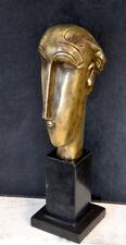 Bronzefigur - Bronze Kopf signiert Modigliani in Handarbeit gefertigt