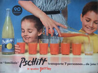 PUBLICITÉ 1957 LA FAMILIALE PSCHITT LA QUALITÉ PERRIER - ADVERTISING