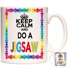 JIGSAW PUZZLE mug Can be personalised, Dishwasher and Microwave Safe. Keep Calm