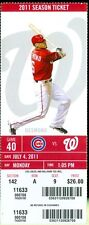 2011 Nationals vs Cubs Ticket: Jayson Werth scores on wild pitch in 10th to win