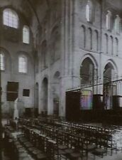 Ste Croix Transept/Choir, La Charité-sur-Loire, France,Magic Lantern Glass Slide