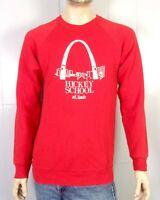 vtg 80s retro Hickey School St. Louis Arch Sweatshirt Raglan Sleeve sz L/XL