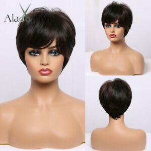 Perruque Luxe Sexy Adulte Femme Cheveux Brune Wigs Afro Chatain 166-4