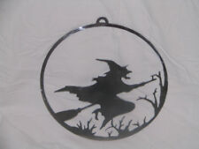 Witch Halloween Wall metal art Festive holiday Scared decoration