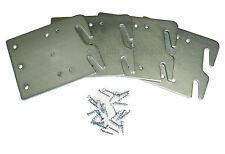 Bed Rail Hook Plates Wood Bed Rail Restoration Assembly - Set of 4