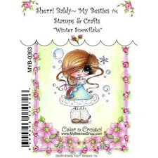 NEW My-Besties Clear cling Rubber Stamp WINTER snowflake CHRISTMAS free us ship