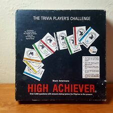 1985 High Achiever  Black History Trivia Board Game with 2500 question cards