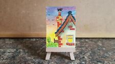 """Original Watercolour Painting ACEO """"Mischief On The Roof"""" by Colin Coles"""