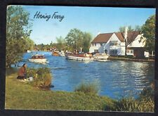 Posted 1988: Boat & Man Fishing at Horning Ferry, Norfolk Board