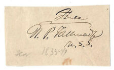 More details for nathaniel p tallmadge (1795-1864) us senator from new york, signature in ink