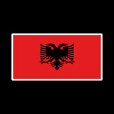 P424 - ALBANIA FLAG ANY SIZE VINYL DECAL BUMPER STICKER