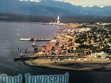 AIR VIEW BEAUTIFUL VINTAGE POST CARD HISTORIC TOWN FROM PORT TOWNSEND WASHINGTON
