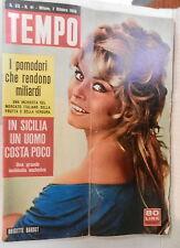 TEMPO 7 Ottobre 1958 Brigitte Bardot Jacques Pills Marilyn Monroe Rodolfo Arata