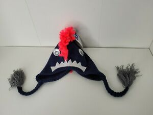 NEW TOP PAW Dog Pet Winter Knit Large L Hat Navy Monster NWT Winter Warm Funny