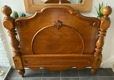 More details for antique victorian carved mahogany headboard original condition c1870 king double