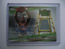 2019 Topps WWE Money in the Bank - Titus O'Neil Autographed Mat Relic 94/99