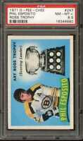1971 O-PEE-CHEE #247 PHIL ESPOSITO ROSS TROPHY PSA 8.5 NICELY CENTERED *CG2391