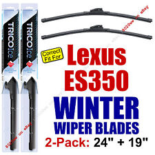 WINTER Wiper Blades 2pk Premium - fit 2007-2012 Lexus ES350 ES 350 - 35240/190