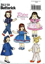 SEWING PATTERN! MAKE VINTAGE STYLE DOLL CLOTHES! FITS MOLLY~KIT~SHIRLEY TEMPLE!