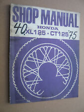 Honda xl125 ct125 Shop Manual Stand 1975 _ Atelier-Guide _ Livre _ instructions