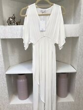 Beachgold Bali White Small Lido Cold Shoulder Boho Maxi Dress NWT