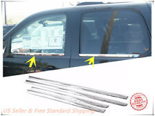 Stainless Steel Chrome Window Sill Trim For 2007-2014 Chevrolet Tahoe Suburban
