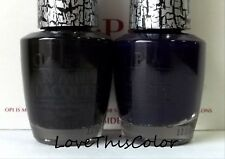 2 x Opi Nail Lacquer - Black Shatter & Blue Navy Shatter - Crackle Lot
