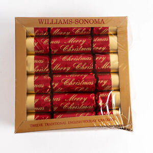Williams Sonoma 12 Traditionnel Anglais Vacances Crackers