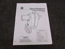 SHOPSMITH SPEED REDUCER OWNERS MANUAL, 555428