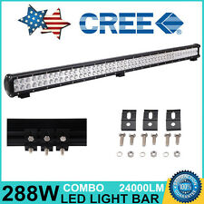 44in 288W CREE LED Work Light Bar Flood Spot Combo Offroad Driving ATV Jeep SUV