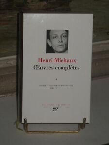 TOP ++  HENRI MICHAUX  OEUVRES  COMPLETES N°1  BIBLIOTHEQUE DE LA PLEIADE  ++