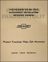 1958 58 Chevy Biscayne Impala Full Color Laminated Wiring Diagram 11 X 17 Ebay