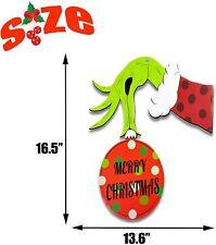 Grinch Decorations Christmas Grinch Door Hanger Holiday Wall Indoor/Outdoor