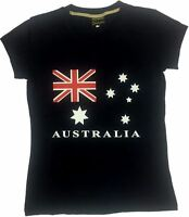 NEW Adults Womens Australia Day Souvenir Australian V Neck  T Shirt Tee Top Flag