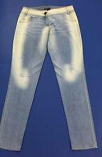 Denny rose jeans donna L skinny slim usati strappi denim blu estivi mare T2071