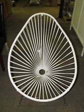 Innit Designs Acapulco Chair, White Weave on Chrome Frame
