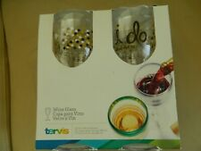 TERVIS HRMK I DO (2) 9 oz wine glasses