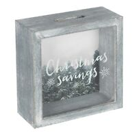 Glass Money Box Savings Coin Panel Frame Christmas savings GREAT GIFT WW_13238