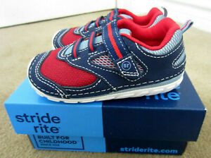 Stride Rite SM Adrian Infant Boys Walking Leather/Syn Sneakers Size 6M New $46