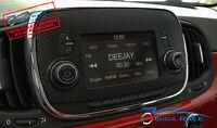FIAT 500 POP ADESIVI STICKER DECAL AUTORADIO TUNING CARBON LOOK VINILE