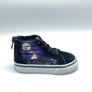 VANS Sk8-Hi Disney Nightmare Before Christmas Shoes Black Toddler 4.5 5 Mismatch