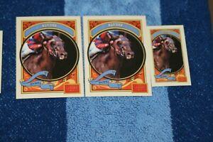 ALYDAR LOT OF 3 2014 GOLDEN AGE BASE & MINI #122 HORSE RACING