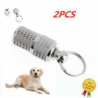 2Pcs Anti-Lost Pet Cat Dog Puppy ID Address Name Label Tag Barrel Collar Tube