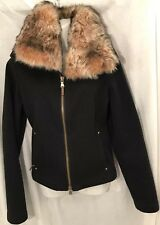 RLX Ralph Lauren Women's Wool Blend Lamb Fur Collar Jacket Size M RT. 850.00