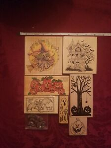 Lot of 8 Halloween 2 stamps by PSX, Stampassions and more