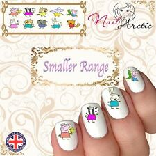 40 x Nail Art Water Transfers Stickers Wraps Decals Peppa Pig Children's