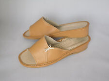women's real  leather slippers  Size 5