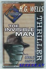 H.G. WELLS The Invisible Man Read by Gerald Harper Audio Book Cassette SEALED!